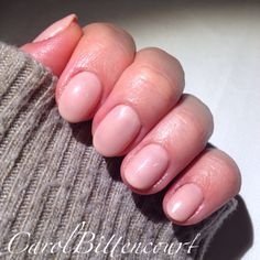 Simple and beautiful nude nails - CND Shellac Bare Chemise and Beau.