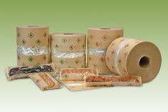 Bobinas de papel con ventana para el envase con máquina flowpack