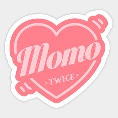 Twice Bias Momo - Twice Kpop - Sticker Kpop Stickers, Printable Stickers, Cute Stickers, Bullet Journal Notes, Bullet Journal Aesthetic, Overlays, Logo Twice, Korean Art, Aesthetic Stickers