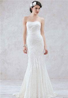 David's Bridal Wedding Dresses - The Knot Galina WG3381