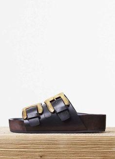 Sandales Céline style Birkenstock plateforme tendance printemps été 2015