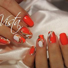jadina_takaja – Nails, You can collect images you discovered organize them, add your own ideas to your collections and share with other people. Great Nails, Fabulous Nails, Cool Nail Art, Cute Nails, Beautiful Nail Designs, Beautiful Nail Art, Finger Nail Art, Manicure E Pedicure, Orange Nails