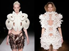 3D printed high-tech haute couture collection by Daniel Widrig & Iris van Herpen