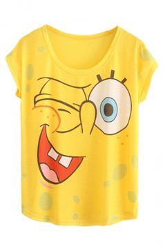 T-shirt Spongebob Bambino Bambina Maglietta Maglia Squarepants Cartoon Moda To Make One Feel At Ease And Energetic Abbigliamento E Accessori