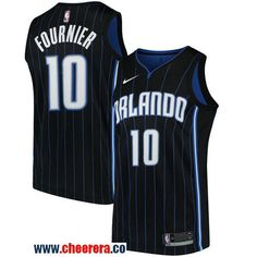 1cc37ad1af3 Men s Nike Orlando Magic  10 Evan Fournier Black NBA Swingman Statement Edition  Jersey Orlando Magic