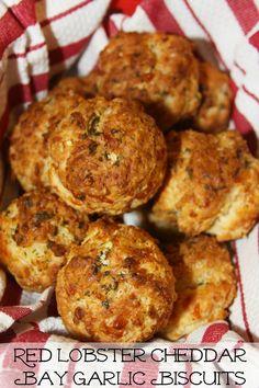 Red Lobster Cheddar Bay Garlic Biscuits -a make at home restaurant copycat recipe.