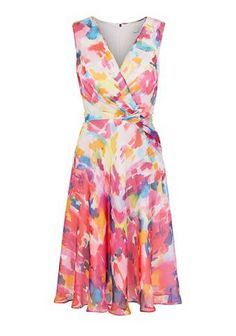 Doesn't it just scream #summer !? Love love #love the colours so much!	IMPRESSIONIST DRESS MULTI  #dress #women #covetme
