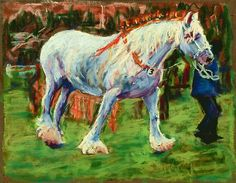 Shire Horse at Rally by Judy Adamson