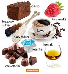- Food and Drink Polish Alphabet, Learn Polish, Polish Language, Polish Recipes, Speech And Language, Logo Nasa, Grammar, Food And Drink, Sweets