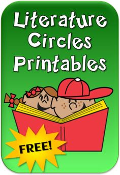 Free Literature Circles Printables- Some good things to use for RP - prep for discussion, etc.