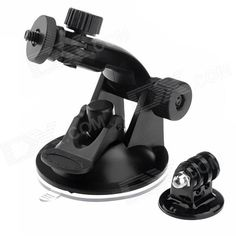 The suction mount is designed for a quick, easy & secure way to mount your GoPro to your desired area! With a 360 degree swivel and tilt action makes it easy to catch any angle. Whether your rally driving, daily commuting or just having some fun this mount will capture all your footage needs! http://j.mp/1v36MpG