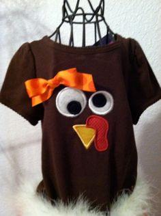 Turkey Thanksgiving Shirt monogrammed by ModernMonograms on Etsy, $20.00