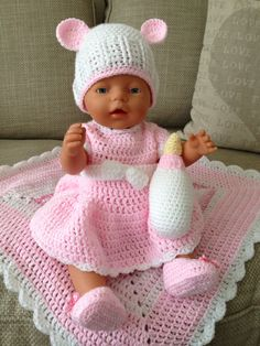 free crochet patterns for bitty baby doll clothes 200 best images about bitty ba. free crochet patterns for bitty baby doll clothes 200 best images about bitty baby baby born and twins doll Knitting , l. Crochet Doll Dress, Crochet Doll Clothes, Crochet Doll Pattern, Doll Clothes Patterns, Crochet Patterns, Clothing Patterns, Crochet Outfits, Knitting Dolls Clothes, Crochet Dresses