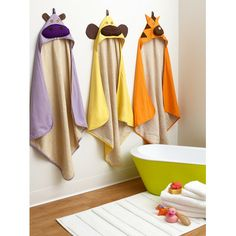 3 Sprouts Cream Chicken Hooded Towel//