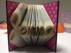 Customized Folded Book Sculpture  Your Name by ReadingWithScissors, $55.00