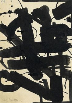 Expresionismo abstracto. Action painting.Franz Kline.