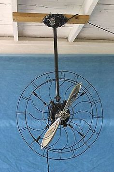 "Antique/Vintage GE 21"" Circulator Propeller Ceiling Fan"