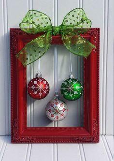 CHRISTMAS PICTURE FRAME IDEA... Love love love!!