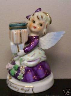 Christmas Figurines, Christmas Angels, Vintage Christmas, Christmas Ornaments, Xmas Decorations, Vintage Decorations, Birthday Angel, Shabby, Angel Decor