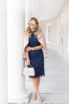 Blue Dress Outfits, Blush Outfit, Winter Dress Outfits, Women's Dresses, Work Outfits, Maroon Lace Dress, Blue Lace, Navy Blue, Elegant Outfit