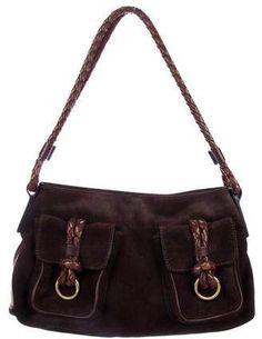 4fd1602c3c98 Burberry Suede and Haymarket Check Shoulder Bag. ShopStyle