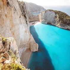 Navagio Beach,Zakynthos island, Greece.  Whether you`re looking for relaxing ease on the beach or active leisure, Greek islands offer different types of recreation and activities. Navagio Beach provides with wonderful views and the magnificent sea and cliffs. The best way to explore the area is to go on a boat trip or to watch the beach from above by finding a great spot on the cliffs.