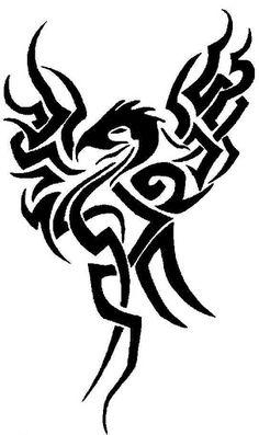 Tribal Phoenix Tattoos For Men | Lower Arm Sleeve Tribal Tattoo