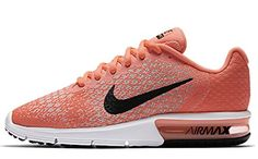 release date 18d93 714be Nike Womens Air Max Sequent 2 Running Shoes 10 BM US Hot PunchBlackWolf  Grey     See this great product.