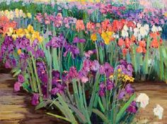 Iris by the row by Kent R Wallis | Blouin Art Sales Index