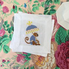 The Daily Hunt - Katie Considers Tissue Box Covers, Tissue Boxes, Palm Beach Decor, Monogram Fonts, Monograms, Thing 1, Embroidery Monogram, Chinoiserie Chic, Guest Towels