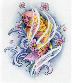 1000 images about tatouage on pinterest koi watercolor koi and cherry blossom tree. Black Bedroom Furniture Sets. Home Design Ideas