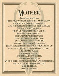 GREAT MOTHER SPIRIT - POSTER A4 SIZE  Wicca Pagan Witch Goth BOOK OF SHADOWS  picclick.com