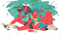 Check out these drawings from Delfina Perez Adan over on her website and Behance. Character Illustration, Illustration Art, Character Art, Character Design, Mini Comic, Art Sketchbook, Beautiful Artwork, Aesthetic Art, Cute Art