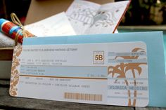 DIY Airplane Ticket Invitations - Free Downloadable Printable Template