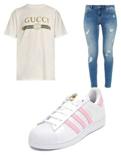 """Casual"" by cbr-style on Polyvore featuring Gucci, Ted Baker and adidas"