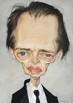 Caricatura de Steve Buscemi.     For more great pins go to @KaseyBelleFox