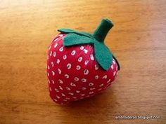 It's a strawberry pincushion!!! :D
