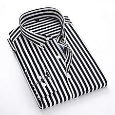 Shopping Cart | LightInTheBox Cheap Mens Shirts, Mens Shirts Online, Casual Shirts For Men, Men Casual, Casual Styles, Men Shirts, Casual Tops, Striped Long Sleeve Shirt, Long Sleeve Shirts