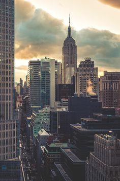 New York City Feelings - NYC Sun Down by Jonathan Blanc