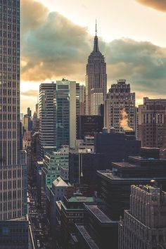New York City Feelings - NYC Sun Down by Jonathan Blanc