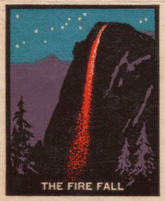 Great bit in The National Parks: America's Best Idea about the Fire Fall and it looked gorgeous. Totally makes no sense but still very pretty.