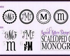 Free Monogram Fonts Circle   Bing Images