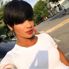 Swell Shorthair For Black Women Low Cut Chinese Bang Messy Cute Short Hairstyles For Women Draintrainus