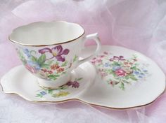 Vintage Royal Albert teacup snack set, teacup and tray, english bone china, birthday gift, tea for one, excellent condition