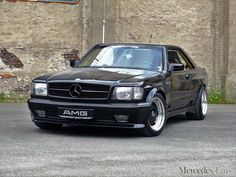 Mercedes-Benz 500 SEC AMG: black. Strong: the 82 series 500 SEC AMG is black & better - photo gallery - 1982 Mercedes Benz AMG widebody Best Picture For car png For Your Taste You are lo - Mercedes W140, Mercedes Benz Coupe, Mercedes Benz 500, Suv Cars, Tuner Cars, Jeep Cars, Toyota Lc, Cars Vintage, Mercedez Benz