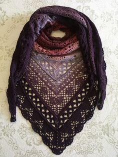 Crochet Amigurumi Patterns Ravelry: Mariola Shawl pattern by Kirsten Bishop - This pattern is a Polish inspired creation for my number one fan, Mariola Malinowska. It's designed to be reminiscent of pisanki eggs. Poncho Au Crochet, Crochet Shawls And Wraps, Knitted Shawls, Crochet Scarves, Crochet Clothes, Crochet Stitches, Lace Shawls, Crochet Sweaters, Lace Scarf