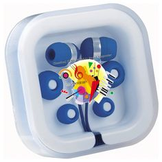 """Color Pop Ear Buds with Mic Upgrade your next ear buds with bright colorful ones that include a mic on the cable that allows you to talk on the phone hands free. Comes in a clear plastic carrying case and two additional different size silicone inserts.  2.75"""" W x 2.75"""" H x 0.75"""" D SKU ADZXD-JJSAH as low as $4.58"""