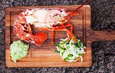 Lobster salad with marinated fennel and chunky, spicy guacamole Lobster Recipes, Seafood Recipes, Courgetti Recipe, Lobster Salad, Great British Chefs, Fennel Salad, Quick Meals, Low Carb Recipes, Salad Recipes