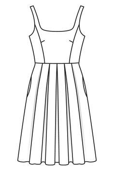 Платье с узким лифом и пышной юбкой - выкройка № 111 А из журнала 7/2016 Burda – выкройки платьев на Burdastyle.ru