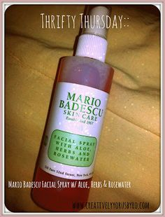 Creatively Yours: Thrifty Thursday:: Mario Badescu Facial Spray with Aloe, Herbs and Rosewater